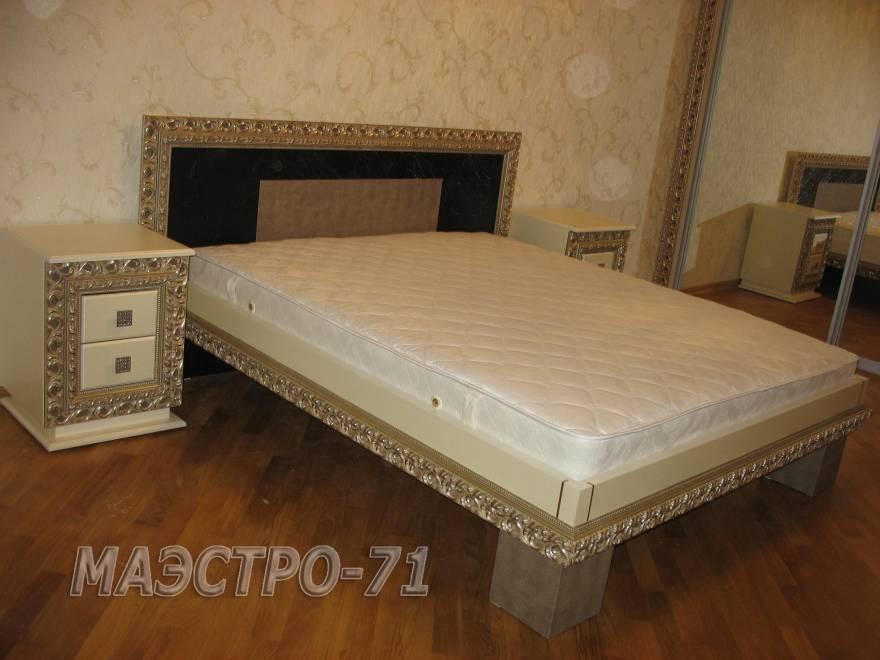 Кровать с багетом своими руками 87
